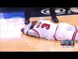 Dwyane Wade Injury  Thunder vs Bulls  January 9, 2017  2016-17 NBA Season