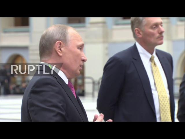 Russia Putin comments on questioning of artistic director Serebrennikov theatre search