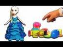 Play Doh, Frozen Elsa toys Stop Motion Animation у Куклы Эльзы наряды лучше чем у Барби