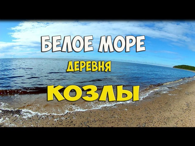 Белое море, деревня Козлы. The white sea, the village Goats.