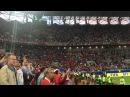 Фанаты Чили поют гимн а капелла