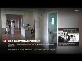 Минздрав составил статистику о душевном здоровье россиян