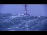 Фрегат в штормовом море