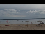 Прогулка по пляжу озера Дривяты