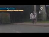 Погоня полицейских за ангелом в Архангельске попала на видео