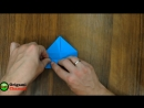 Поделки из бумаги. Оригами коробочка на ножках.Crafts made of paper. Оrigami box