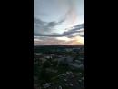 закат над городом. снова смотрю с высотки