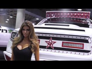 LA Auto Show with model Vanessa Ferrara