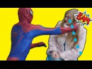 Spiderman beats Elsa's face!? For what? How can he? Watch the video until the end!
