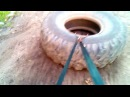 СФП 65 Треним Квадры. Упражнение ударникам на квадрицепсы с покрышкой. Тяга покрышки в упряжке. СФП oyama_mas