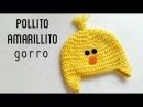 Gorro de Pollito Amarillito a Crochet | How to crochet a yellow chick beanie