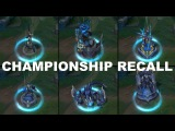 Championship Recall - Riven Thresh Kalista Shyvana Zed Skin Spotlight lol 2016 - League of Legends