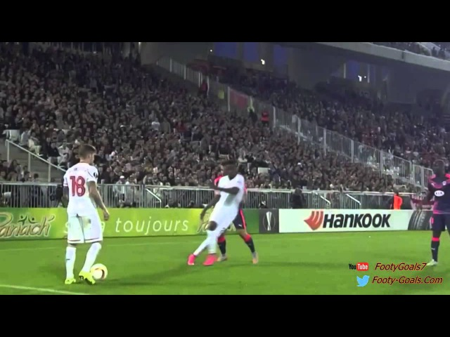 Adam Lallana Nutmeg Pablo Nascimento Castro Before Score Great Goal vs Bordeaux 2015 Europa League