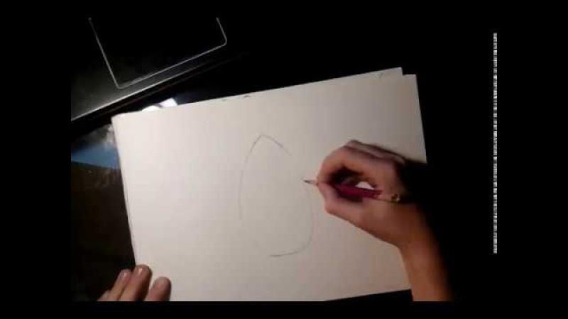 Рисую кота Пушина