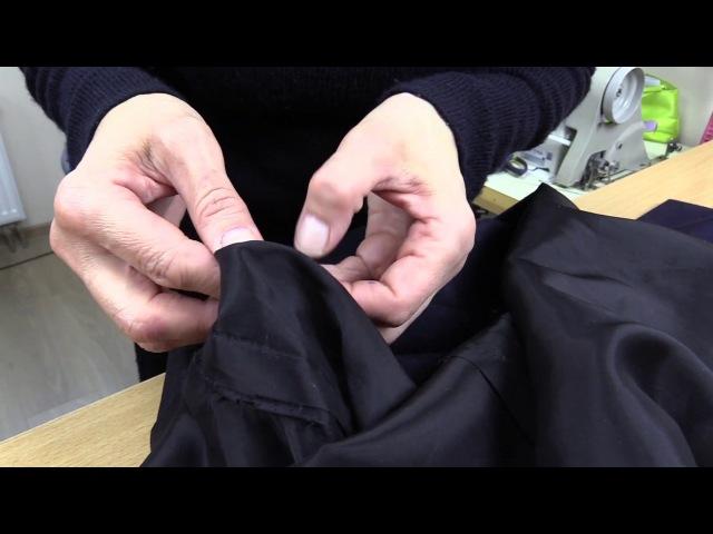 Упаковка шлицы, упаковка низа с подкладом к многофункциональному платью ПРОДОЛЖНИЕ Часть 8