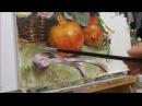 Pomegranates flowers oil painting part 5