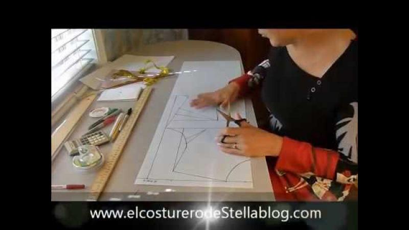 Trazo y corte del basico de la blusa- The real basic bodice pattern