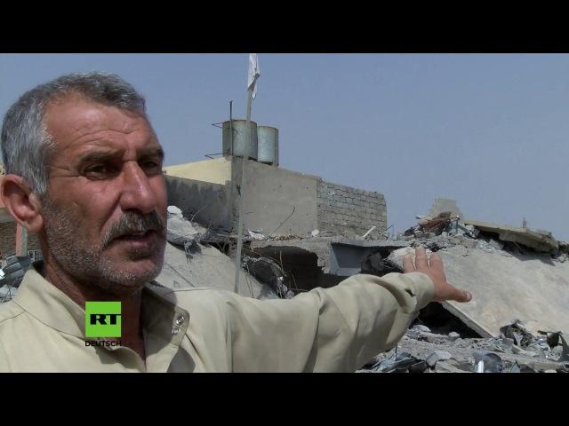 """Mossul: Zivilisten sterben zwischen den Fronten – """"Hier wurden über 100 Häuser bombardiert"""""""
