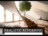 Realistic rendering of an interior scene with Cinema4d (No plug-ins)