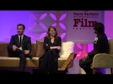 SBIFF 2017 - Ryan Gosling Emma Stone Having Fun On Stage With Roger Durling