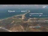 Крымский мост с высоты. Стройка от Тамани до Керчи