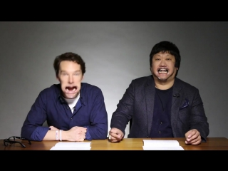 Benedict Cumberbatch and Benedict Wong for BuzzFeed UK, Feb 2017