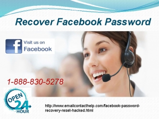 Facebook Reset Password 1-888-830-5278 An ultra blend of excellence and responsiveness