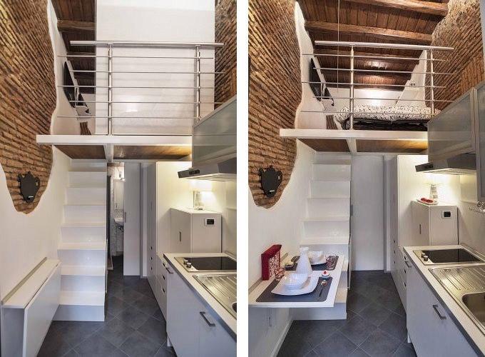 Маленькая квартира-студия 7 м в Риме.