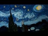 Звёздная ночь Ван Гога, нарисованная в воде художником Garip Ay