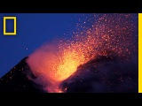 Amazing Volcano Footage See Smoke and Lava Erupt From Mount Etna  National Geographic