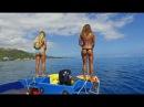 KALOEA Surfer Girls - Tubing in Tahiti (HD Drone ) Funny Wipeouts