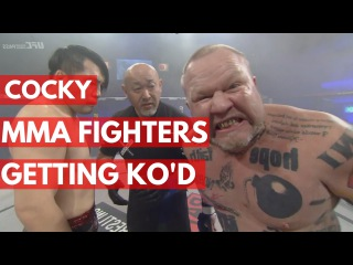 Cocky MMA Fighters Getting knocked Out - TOP 5