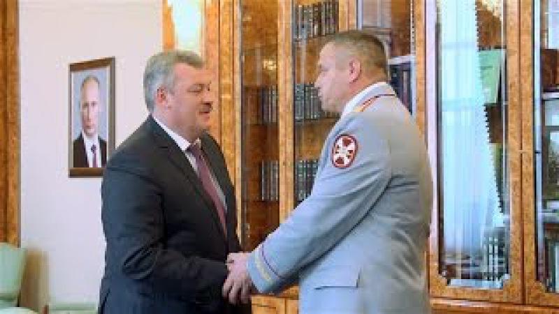 Рабочая встреча Сергея Гапликова с Игорем Княжевым