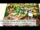 Overlooking The Town Adult Coloring Book The Night Voyage by Daira Song