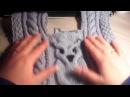 Мастер-класс 2 ЧАСТЬ детского свитера с совой спицами.