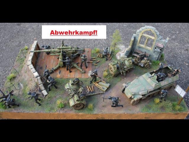Tamiya`s Flak 88 Tamiya Sdkfz 251 Diorama 1:35 Abwehrkampf