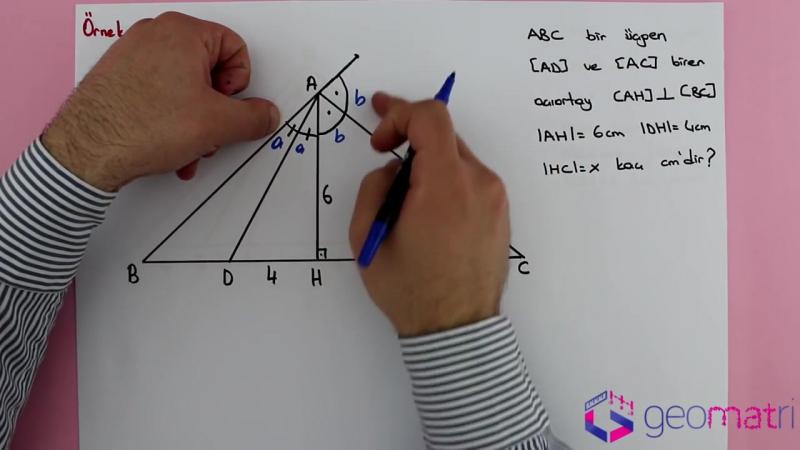 Üçgende Açıortay 3 ► Dış Açıortay Teoremi - Konu Anlatımı ve Soru Çözümleri