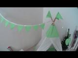 Вика и Миша играют в детском вигваме Lime