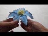 Мастер-класс Как создать цветок клематиса из фоамирана