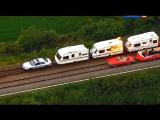 Top Gear - 17 сезон 4 серия (Ведущие создают поезда из автомобилей) [перевод Россия 2]