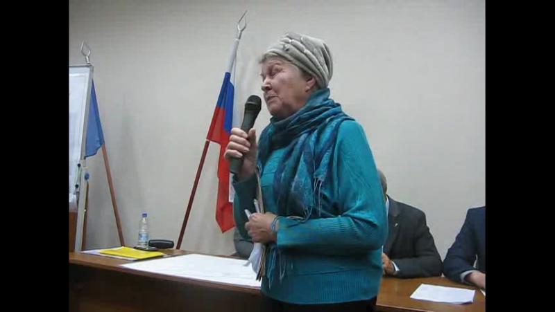 Л И Байкова на слушаниях по Шевелюхе