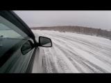 Покатушки на ледовой трассе. lancer x 1.6 mt