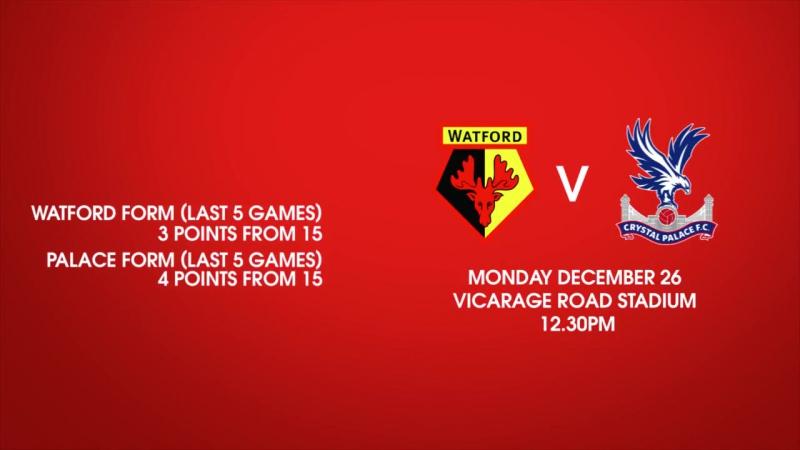 Facts and stats: Watford v Crystal Palace