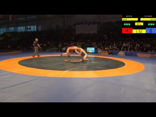 до 96 кг Шамиль Мусаев (Дагестан) - Батырбек Цакулов (Алания).за золота ЧР 2017
