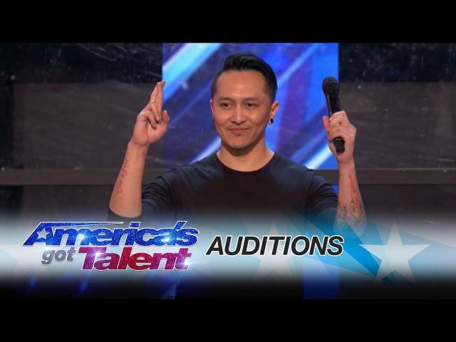 Demian Aditya Escape Artist Risks His Life During AGT Audition - Americas Got Talent 2017