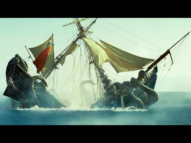 «Пираты Карибского Моря: Сундук Мертвеца» — Уничтожение «Кракеном» одного из т ...