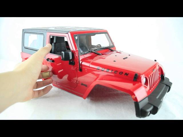Boom Racing Jeep Wrangler Rubicon 1/10 RTR Body for Axial SCX10 Tamiya CC01 BR710068R