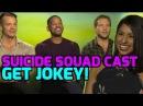 SUICIDE SQUAD: Will Smith, Joel Kinnaman & Jai Courtney get playful with Melissa!