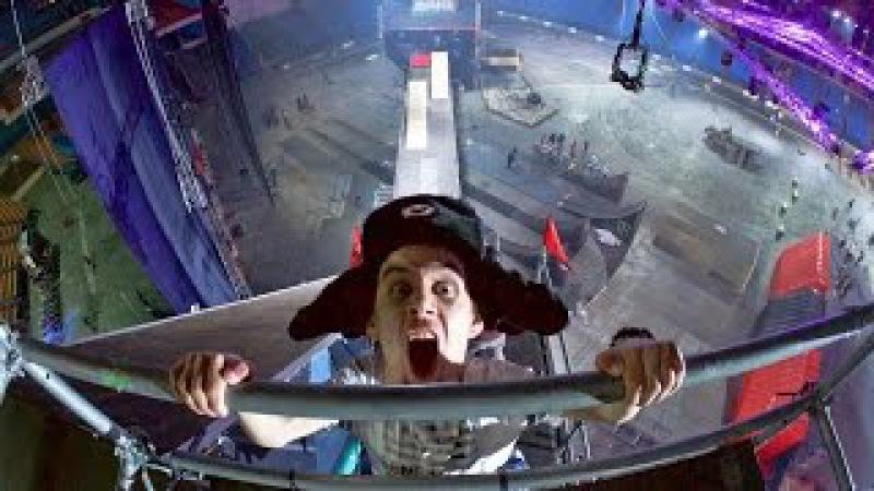 ОБОССАЛСЯ от страха Зацеп на крыше Олимпийского