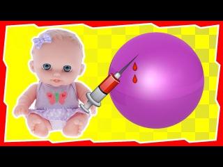 Куклы Пупсики Берем Кровь Из Попы И Делаем Укол Кровью Большому Шару Орбиз